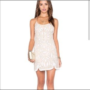 NWT NBD White Sequin Dress